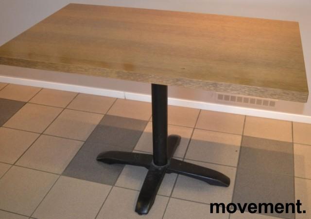 Kafebord med bordplate i eik finer, 120x70cm bordplate, 77cm høyde, pent brukt bilde 4