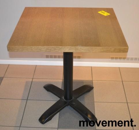 Kafebord med bordplate i eik finer, 70x60cm bordplate, 77cm høyde, pent brukt bilde 1