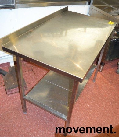 Arbeidsbenk i rustfritt stål 112cm bredde, 65cm dybde, 88cm høyde, pent brukt bilde 3