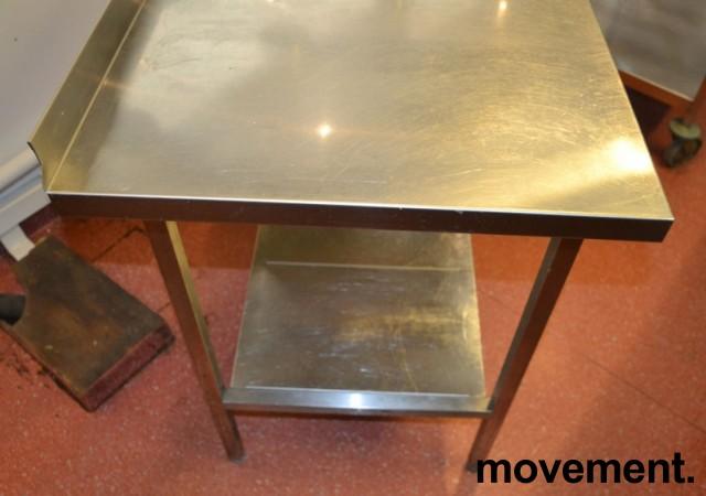 Arbeidsbenk i rustfritt stål 112cm bredde, 65cm dybde, 88cm høyde, pent brukt bilde 2