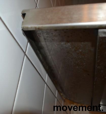 Arbeidsbenk / oppvaskbenk / sidebenk i rustfritt stål, 70cm bredde, pent brukt bilde 2