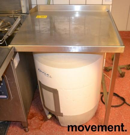 Arbeidsbenk / oppvaskbenk / sidebenk i rustfritt stål, 70cm bredde, pent brukt bilde 1