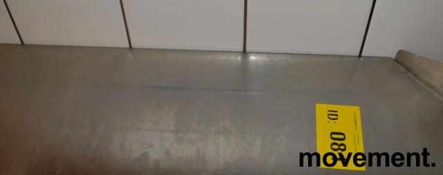 Arbeidsbenk / oppvaskbenk / sidebenk i rustfritt stål, 70cm bredde, pent brukt bilde 3