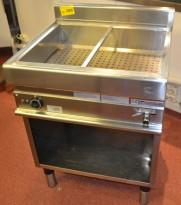 Vannbad / varmebad i rustfritt stål fra Modular, 400V, 70cm bredde, pent brukt
