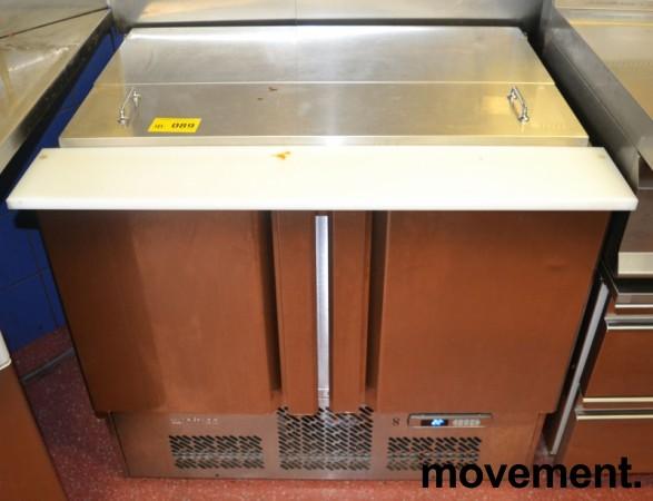 Infrico kjøleskap med topp-åpning og dører, bredde 98cm, høyde 87cm, pent brukt bilde 5