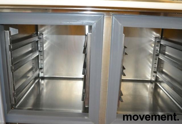 Infrico kjøleskap med topp-åpning og dører, bredde 98cm, høyde 87cm, pent brukt bilde 4