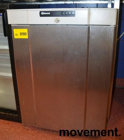 Gram fryseskap for plassering under benk, front i rustfritt stål, bredde 60cm, høyde 84cm, pent brukt bilde 1