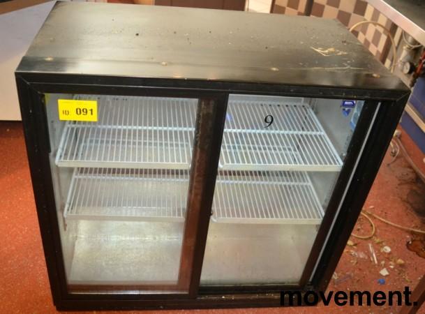 Dobbelt bruskjøleskap m/glassdør fra Frigoglass, 90cm bredde, 87cm høyde, pent brukt bilde 1