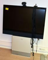Cisco videokonferanse Telepresence 132cm skjerm, brukt og selges som det står