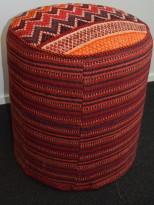 Loungemøbel / Sittepuff fra Ikea, i etnisk stil, Ø=43cm, H=46cm, pent brukt