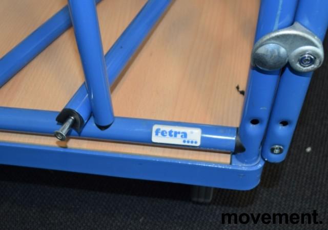 Tralle med blå ramme i metall, avtakbare topp-rør medfølger, pent brukt bilde 3