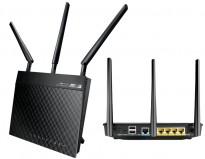 Asus RT-N66U Wireless-N900 Gigabit router, Trådløs router, pent brukt