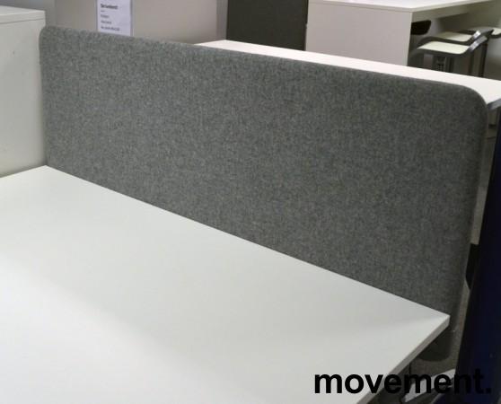Bordskillevegg i grått stoff, 140x60cm, NY / UBRUKT bilde 2