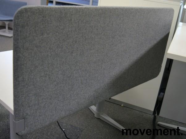 Bordskillevegg i grått stoff, 140x60cm, NY / UBRUKT bilde 1