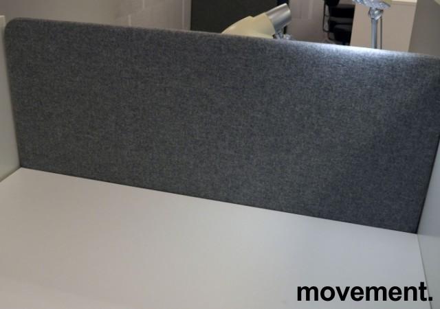 Bordskillevegg i grått stoff, 120x60cm, NY / UBRUKT bilde 2