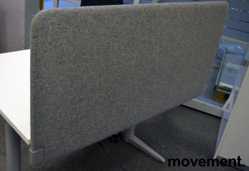 Bordskillevegg i grått stoff, 120x60cm, NY / UBRUKT bilde 1