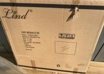 Speil, vegghengt, baderomsspeil 80x80cm, Lind Bad, serie Monaco, nytt/ubrukt i eske