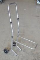 Tralle for stablestoler / stoltralle i krom, pent brukt