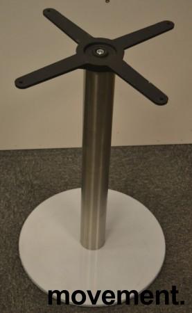 Møtebord / konferansebord i hvitt / satinert stål (rund fot), 240x100cm, NY / UBRUKT bilde 4