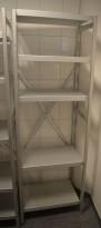 Kjøleromshylle i aluminium 180cm høyde, 60cm bredde, 41cm dybde, 5 hyller, Metos, pent brukt