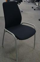 Kinnarps møteromsstol 5000[cv] i sort stoff / grålakkert stål, NYTRUKKET