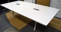 Møtebord / konferansebord i hvitt fra Vitra, Joyn 260x120cm, passer 8-10 personer, brukt