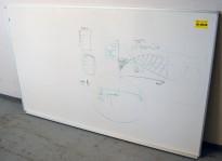 Vegghengt whiteboard 200x100cm, pent brukt