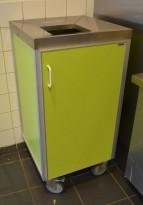 Essnor Søppeltralle / avfallstralle for storkjøkken / kantine i grønt, pent brukt