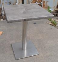 Kafebord med bordplate i trefarget laminat, 60x60cm bordplate, 75cm høyde, pent brukt