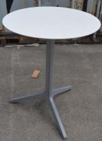 Kafebord / utebord fra Pedrali med plate i hvitt, Ø=60cm, kan klappes sammen, pent brukt