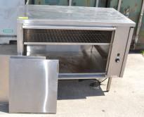 Varmeskap med skyvedører for storkjøkken i rustfritt stål, bredde 120cm, brukt