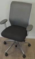 Vitra ID Mesh kontorstol i grått stoff / mesh rygg, armlene, pent brukt