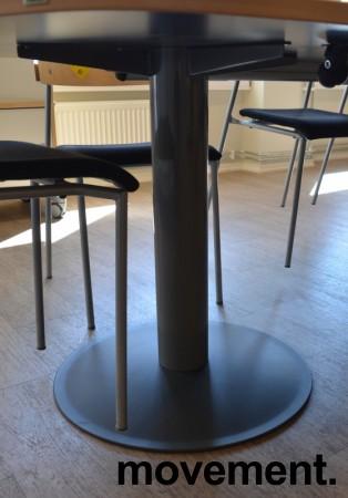 Kinnarps E-serie konferansebord / møtebord i bjerk / grått understell, 440x120cm passer 14-16 personer, pent brukt bilde 3