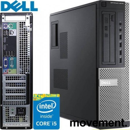 Stasjonær PC: Dell Optiplex 9010, i5-3570 Quad Core 3.4GHz,  8GB RAM / 250GB HDD, pent brukt bilde 1