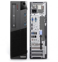 Stasjonær PC: Lenovo ThinkCentre M91p, Intel Core i5-4570 3,2GHz / 4GB RAM / 2TB HDD 120GB SSD / USB 3.0 / WIN10, pent brukt