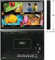 Marshall QV241-HDSDT skjerm for proffbruk, HD-SDI Quad View m/IMD 24toms Full-HD, Pent Brukt
