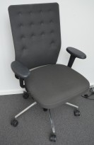 Lekker kontorstol fra Vitra, ID Trim, mørk grått stoff, pent brukt