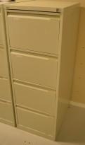 Gerdmans arkivskap folio og vanlig i hvitlakkert stål, pent brukt