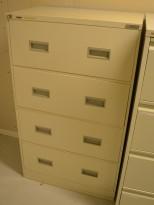 Arkivskap for hengemapper fra Høvik, bred modell for 2 bredder, 4 skuffers, 77cm bredde, pent brukt