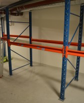Pallereol fra EAB, 2-pallers bredder, høyde 220cm, se liste over deler, pent brukt