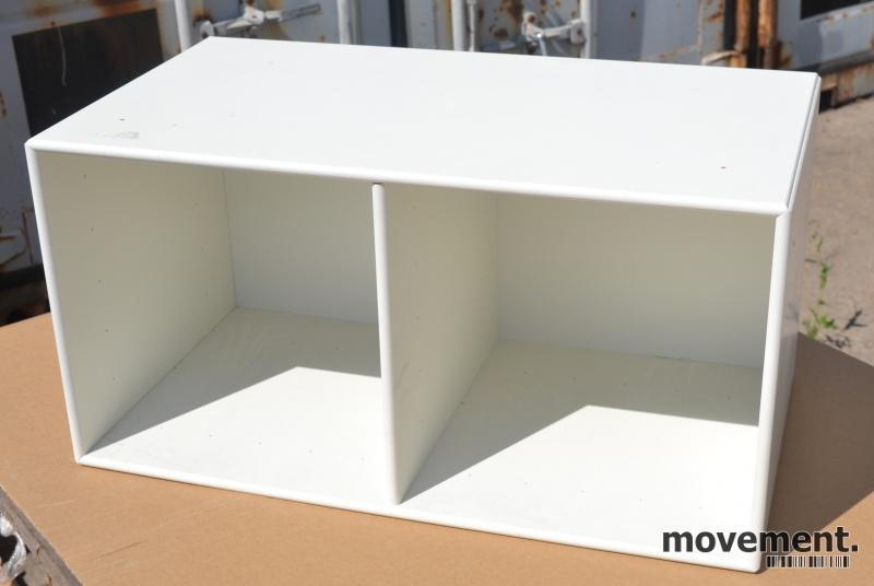 Herlig Vegghengt hylle fra Montana, hvitt,69,5cm bredde, 35,5cm høyde ZA-15