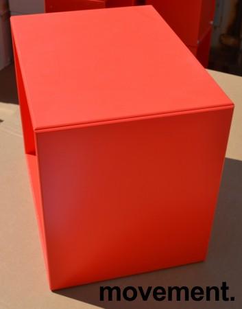 Vegghengt hylle fra Montana, rødorange, 41cm bredde, 35,5cm høyde, pent brukt bilde 2
