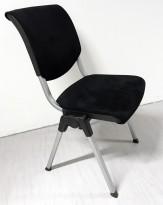 Håg conventio 9510 konferansestol i sort comfort / mikrofiber stoff, stablebar, pent brukt