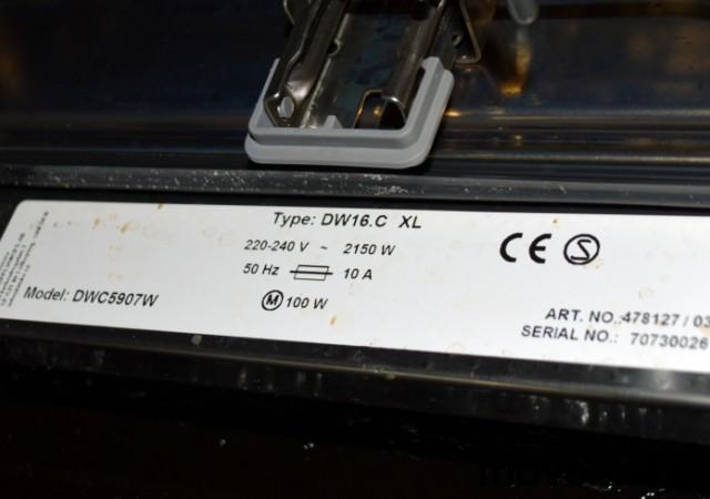 Asko oppvaskmaskin, modell DW16.C XL / DWC5907W, pent brukt bilde 4