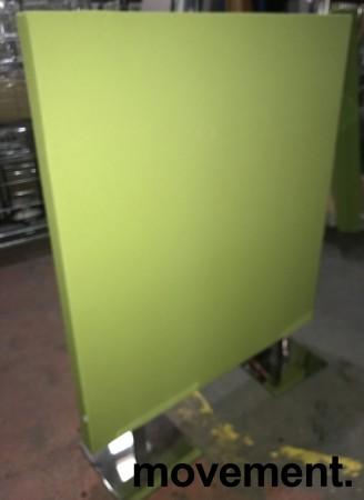 Frittstående lys grønn skillevegg fra Zilenzio, 120cm bredde, 152cm høyde med føtter, pent brukt bilde 1