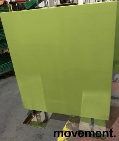 Frittstående lys grønn skillevegg fra Zilenzio, 120cm bredde, 152cm høyde med føtter, pent brukt bilde 2