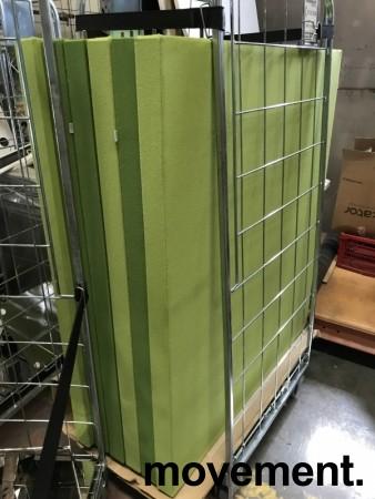 Frittstående lys grønn skillevegg fra Zilenzio, 120cm bredde, 152cm høyde med føtter, pent brukt bilde 3