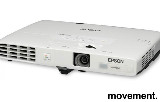 Ultraportabel widescreen-projector, Epson EB-1761W, 1280x800, HDMI, pent brukt - 2361timer på pære bilde 4