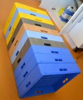 Oppvaskbakker, forskjellige typer, pent brukt