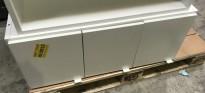 Veggskap med 3 dører i hvitt, fra Trece, Sverige, bredde 90cm, høyde 37cm, pent brukt